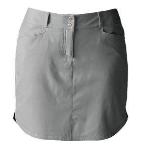 Adidas Gray Curved Hem Golf Skirt / Skort Size 10